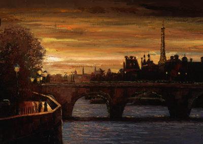 HB115R30 - Twilight on the Seine