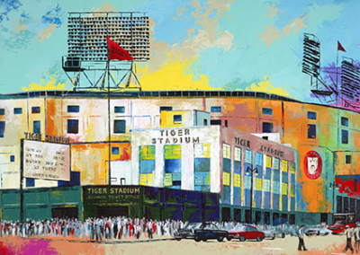 LP105R15 - Tiger Stadium by Al Sorenson