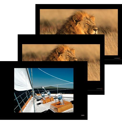 Vision-X FT Tri-Plex Multi-Aspect Vertical Masking Projection Screen