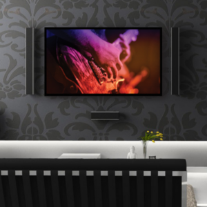 elegante living room grey