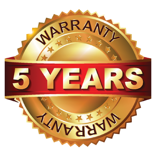 5 Year Warranty on all VisionX products