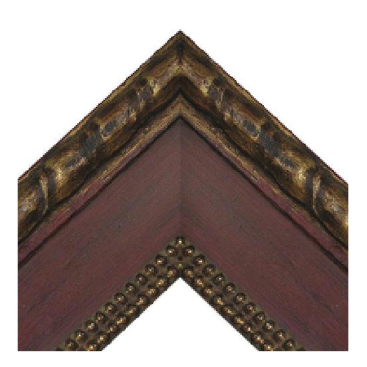 Artigana Red Beads with Braid Frame