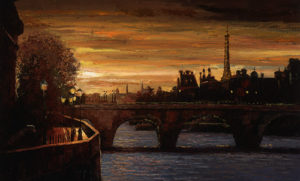HB115R30 Twilight on the Seine