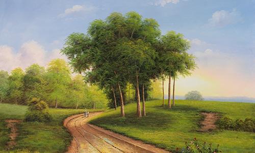 LP101R15 Masterful Reflections by Bill Purdom 0003 009 Sunday Stroll