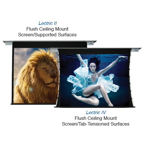 Lectric II & IV – RESIDENTIAL Flush Ceiling Mount Motorized Screens