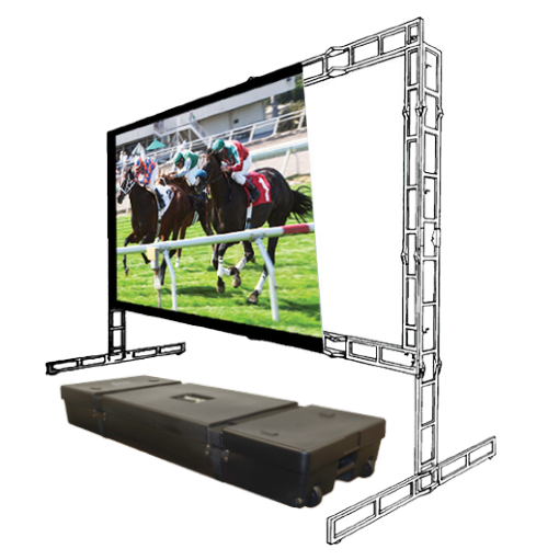 Porta-Fold Truss - Portable Front/Rear Projection Screen with 6″ Truss