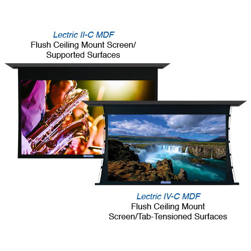 Lectric II-C MDF & IV-C MDF – COMMERCIAL HD Projection Screen