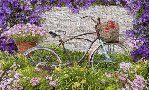 MN004R10 Bicycle Flowers