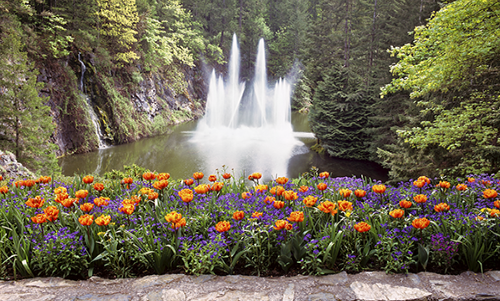 MN006R10 Butchart Gardens Fountain