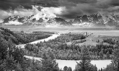 MN029R10 Snake River The Tetons