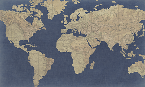 WASW002R200 Linen Map I