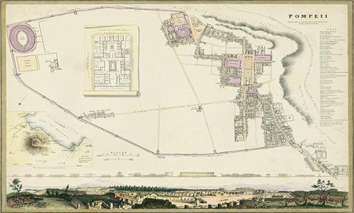 WATN001R200 Map of Pompeii