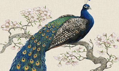 WATO012R200 Peacock Blossoms I