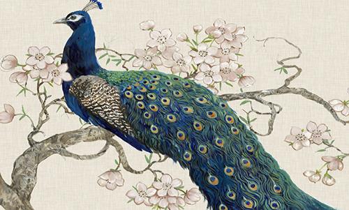 WATO013R200 Peacock Blossoms II