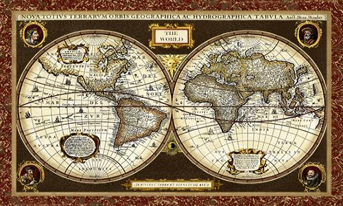 WAVS009R200 Decorative World Map