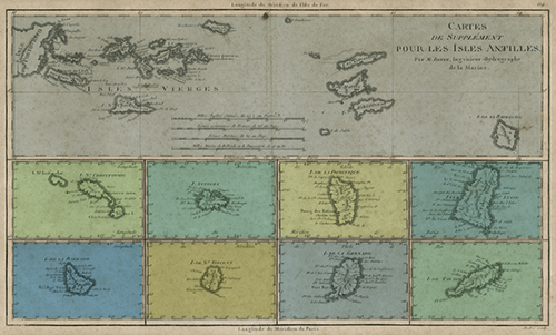 WAVS013R200 Map of Greater Lesser Antilles