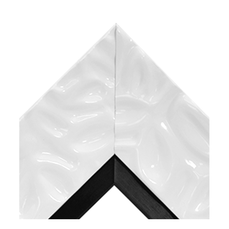Calm Waters White Brushed Black Thin