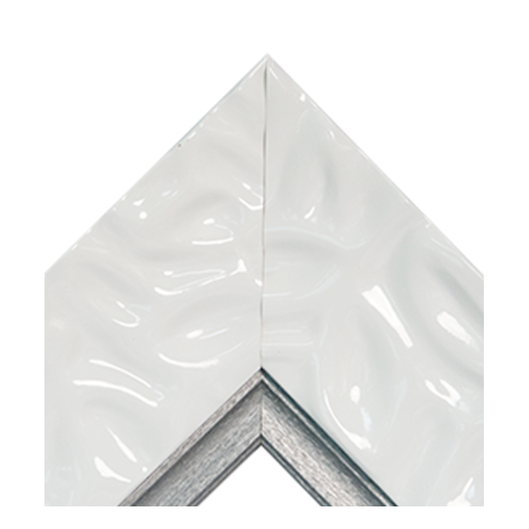 Calm Waters White Platinum Crown Textured