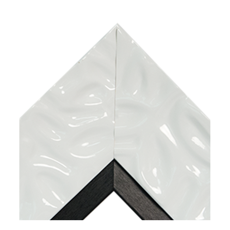 Calm Waters White Textured Satin Black
