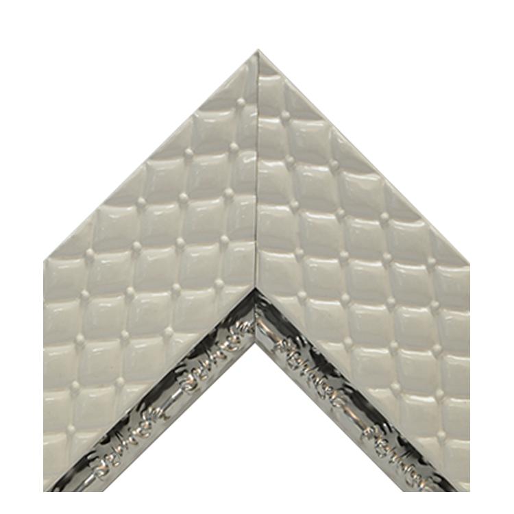 Chesterfield White Metallic Silver