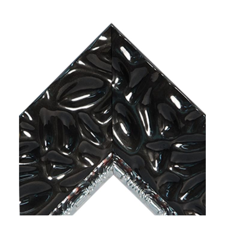 Calm Waters Black Metallic Silver