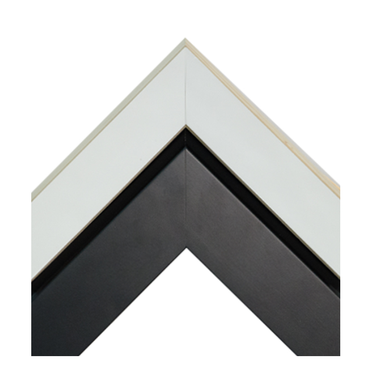 Gloss White-Dimensional Matte Black