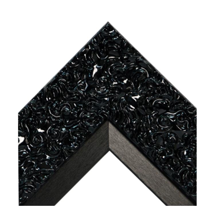 GlossyBlack Swirl Black Satin Textured