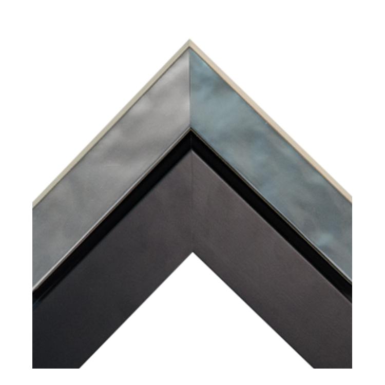 Metallic Silver-Dimensional Matte Black