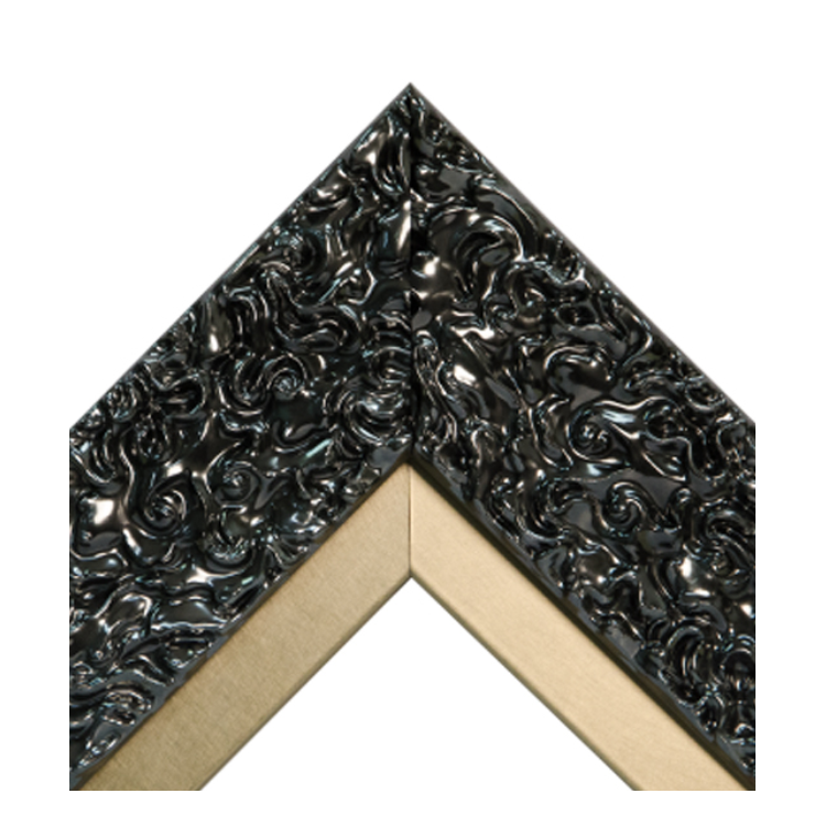 Pewter Swirl Metallic Gold