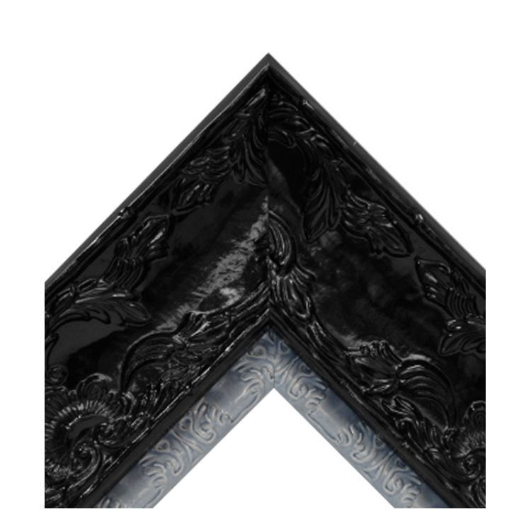Renaissance Black Gloss-Baby Blue