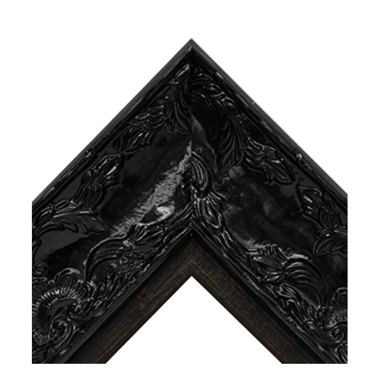 Renaissance Black Gloss-Dark Natural Wood