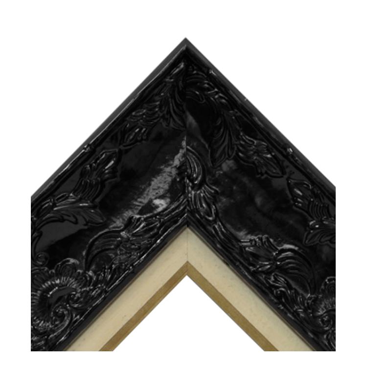 Renaissance Black Gloss-Distressed Cream Gold