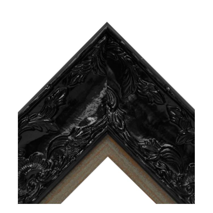 Renaissance Black Gloss-Distressed Wood