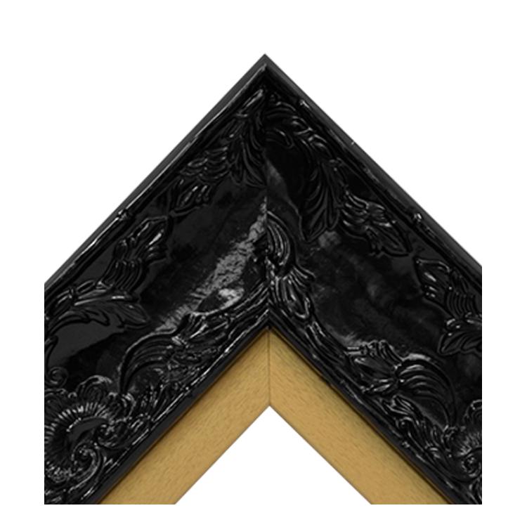 Renaissance Black Gloss-Gold Textured