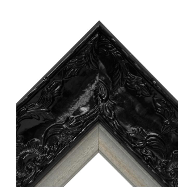 Renaissance Black Gloss-Platinum Crown Textured