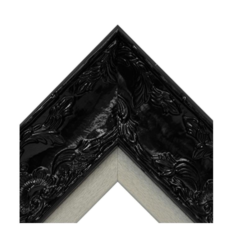 Renaissance Black Gloss-Platinum Textured