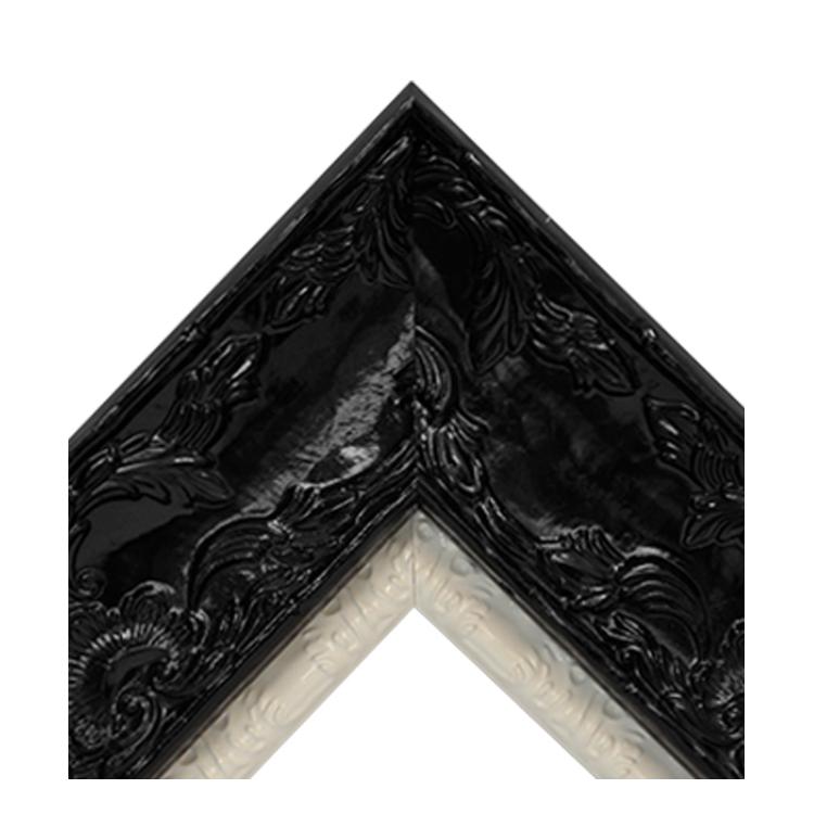 Renaissance Black Gloss-Shiny White