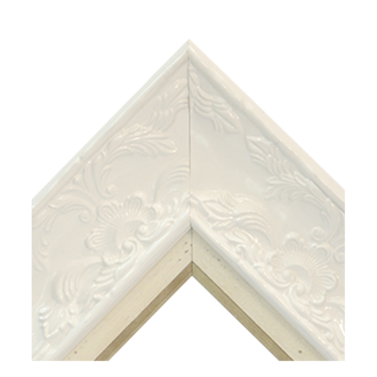Renaissance White Gloss-Distressed Cream Gold