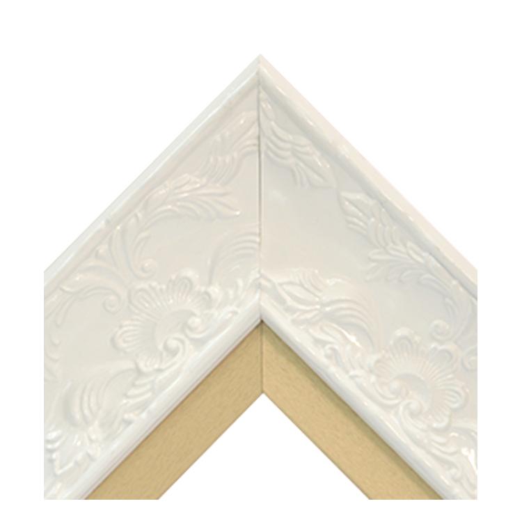 Renaissance White Gloss-Gold Textured