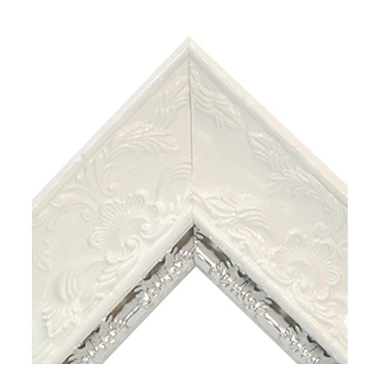 Renaissance White Gloss-Metallic Silver