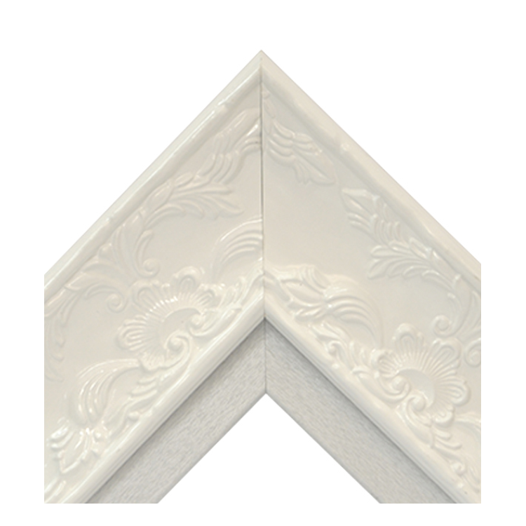 Renaissance White Gloss-Platinum Textured