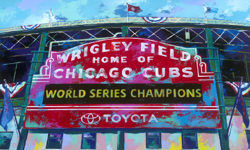 AS002R15 Chicago Cubs World Champs Red Marquee