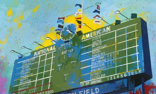 AS021R15 Wrigley Scoreboard
